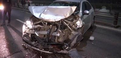 Haliç Köprüsü'nde zincirleme trafik kazası: 3 yaralı