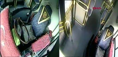 Halk otobüsündeki hırsızlık kamerada