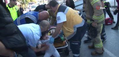 Halkalı'da kaza: 6 yaralı
