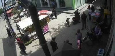 Hamile kadının darbedilmesi güvenlik kamerasında!