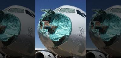 Havada büyük panik! Yolcu uçağı bu hale geldi