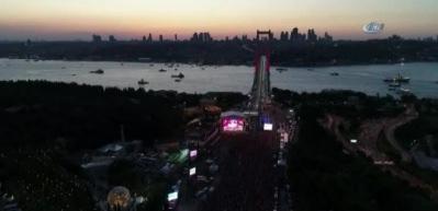 Havadan 15 Temmuz Şehitler Köprüsü!