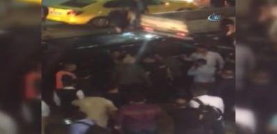 Havalimanı'nda UBER sürücüsüne ve yolculara saldırı!