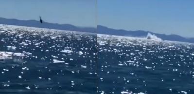 Helikopter denize çakıldı!