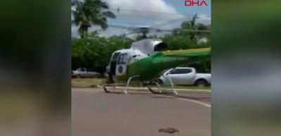 Helikoptere kamyon çarptı!