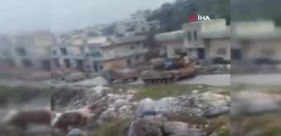 İdlib'de böyle görüntülendi...  TSK'nın tankları peş peşe sıralandı!