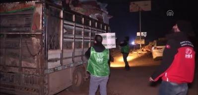 İHH'dan yerinden edilen ailelere acil yardım paketi