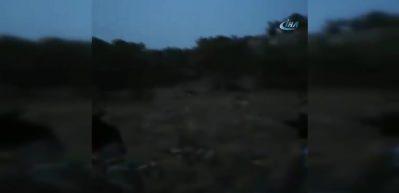 İki teröristin etkisiz hale getirilme anı kamerada