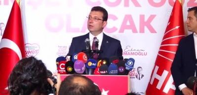 """İmamoğlu: """"İstanbulumuza bugünkü seçimin neticeleri hayırlı olsun, hayırlara vesile olsun"""""""