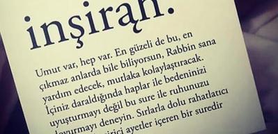 İnşirah suresi Arapça Türkçe yazılışı ve okunuşu