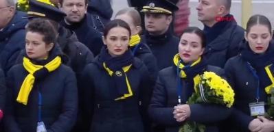 İran'da düşürülen uçakta ölen Ukraynalıların naaşları ülkelerine getirildi