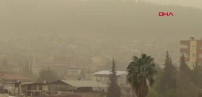 İslahiye'de toz bulutu etkisini sürdürüyor