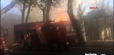 İstanbul Beşiktaş'ta yangın paniği