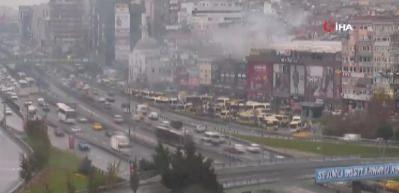 İstanbul'da AVM yangını: Çok sayıda ekip bölgede