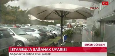 İstanbul'da sağanak uyarısı! Sağanak ve fırtına etkili olacak