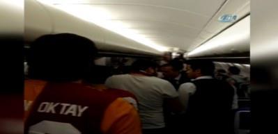 İşte Galatasaray uçağında yaşananlar
