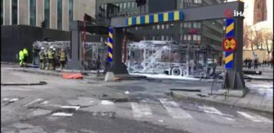 İsveç'in başkentinde şiddetli patlama
