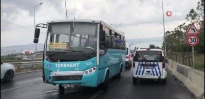 Büyükçekmece'de korkutan kaza: 3 yaralı