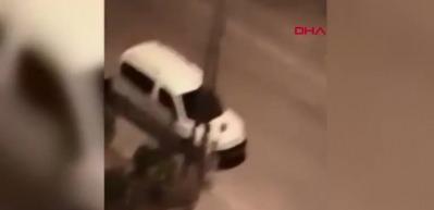Kadına sokak ortasında tekme ve tokatlı saldırı!