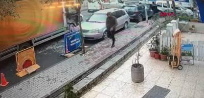 Kağıthane'de lüks cipe silahlı saldırı kamerada