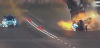 Kalkış yarışında feci kaza kamerada