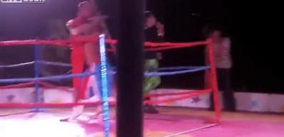 Kanguru kadınla boks yaptı!