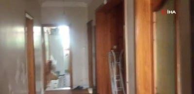 Kaşıkçı baskını yapılan 3 katlı villanın içi görüntülendi