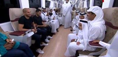 Katar Emiri'ni karşısında görenler büyük şaşkınlık yaşadı