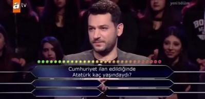 Atatürk sorusuna iki joker harcadı, sosyal medyayı salladı!