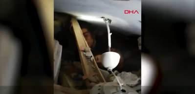 Kızı Nüsra ile enkaz altında kalan annenin asker ile konuşması ortaya çıktı
