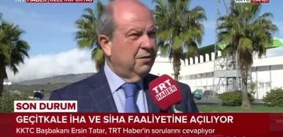 KKTC Başbakanı Ersin Tatar: Acil ihtiyaç nedeniyle SİHA faaliyetlerine izin verildi