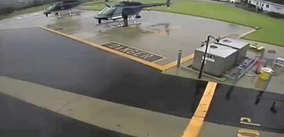 Korkunç helikopter kazası kamerada!