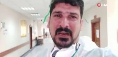 Korona virüsle mücadele eden Iraklı doktordan ağlayarak 'Evde kalın' çağrısı