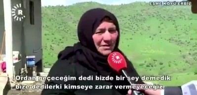 Kürt teyzeden Barzani'nin muhabirine tokat gibi cevap!
