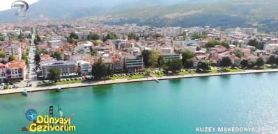 Kuzey Makedonya'nın mavi ve yeşil uyumu Ohri Gölü