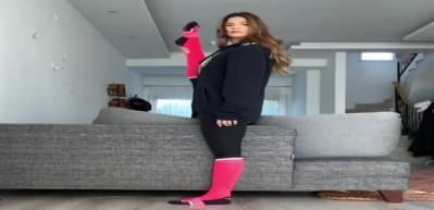 Larissa Gacemer bacağı için eşine teşekkür etti!
