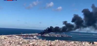 Libya Limanlar Müdürlüğü: Bombalanan Trablus Limanı'nda Türk gemisi bulunmuyor
