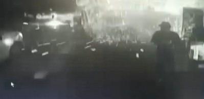 Lokantada patlama anı kamerada