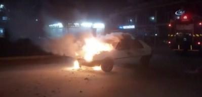 LPG'li araç benzin koyunca alev alev yandı