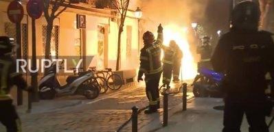 Madrid sokakları karıştı