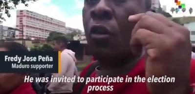 Maduro taraftarları sokaklara indi