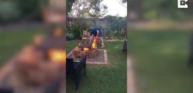 Mangal yakmak isterken bahçeyi böyle ateşe verdi