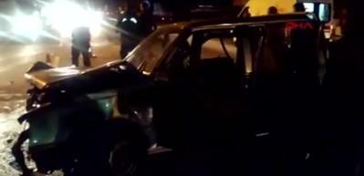 Manisa'da otomobil ile kamyonet kaza yaptı!