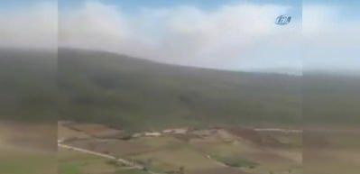 Manisa'nın Soma ilçesinde orman yangını çıktı