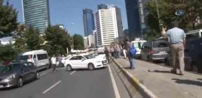 Mecidiyeköy'de mağdur olan galericilerden yumurtalı eylem
