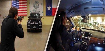 Mercedes'e Kalaşnikofla kurşun geçirmezlik testi!
