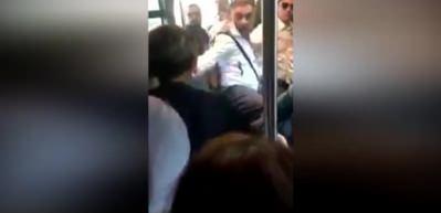 Metrobüste büyük gerginlik! 'Çanta rahatsız ediyor' dedi...
