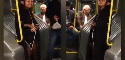 Metrobüste herkesi şoke eden yolcu!