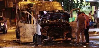 Minibüsü yakılan şoförden teröre tepki