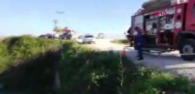Motosikletle kanala düşen sürücü öldü